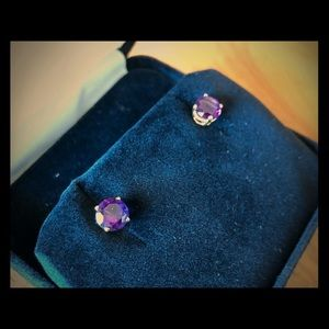 Jewelry - Large amethyst earrings in 14kt gold settings